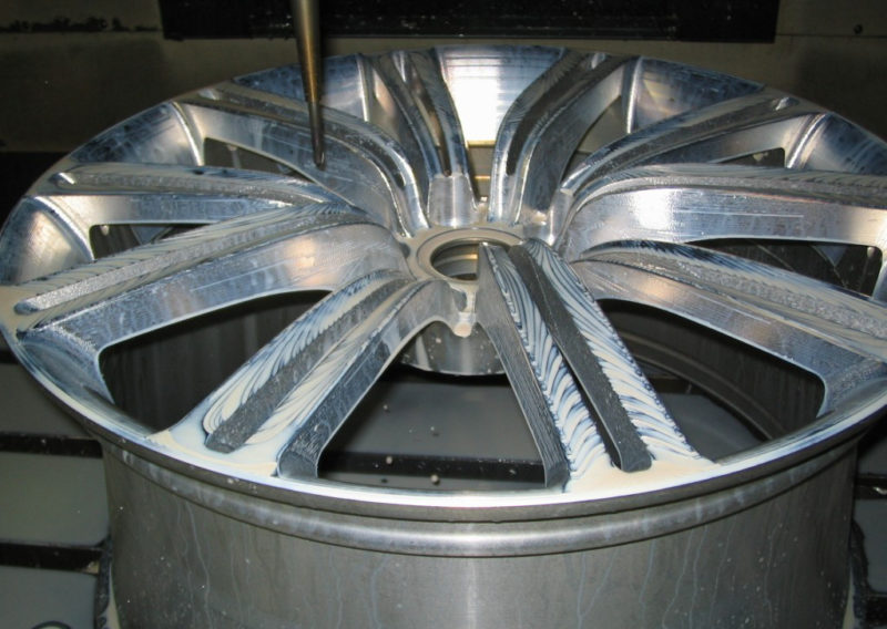 wheel 4 CNC machined